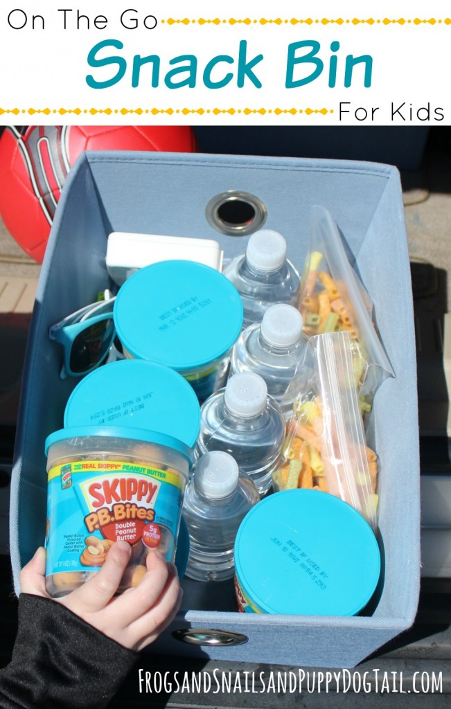 on the go snack bin for kids a sanity saver