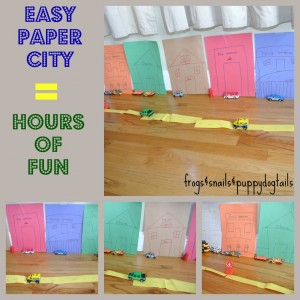 Paper City-great activity for hot wheels
