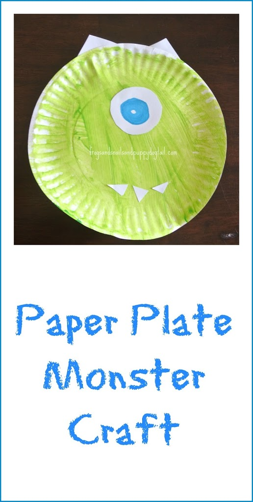 sc 1 st  Frogs and Snails and Puppy Dog Tails & Paper Plate Monsters Craft - FSPDT