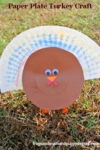 Paper Plate Turkey Craft by FSPDT