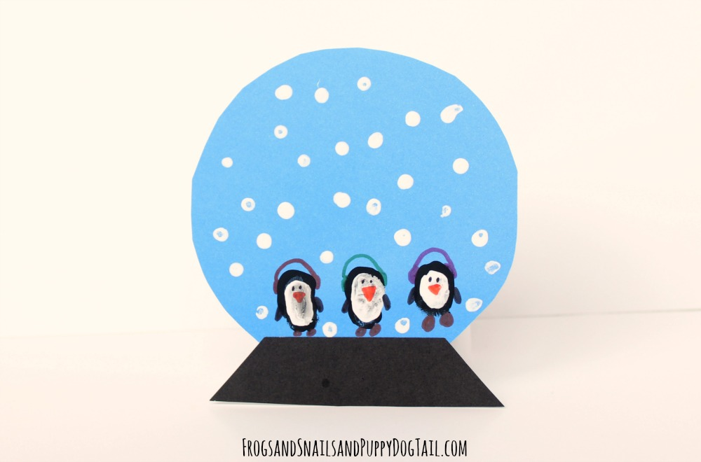 penguin snow globe craft