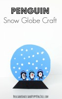 penguin snow globe winter craft for kids