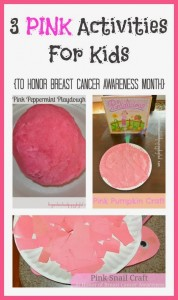 3 PINK Activities For Kids {to honor Breast Cancer Awareness Month}