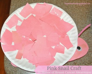 Pink Snail Craft in Honor of Breast Cancer Awareness