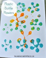 Plastic Bottle Flower Paintings