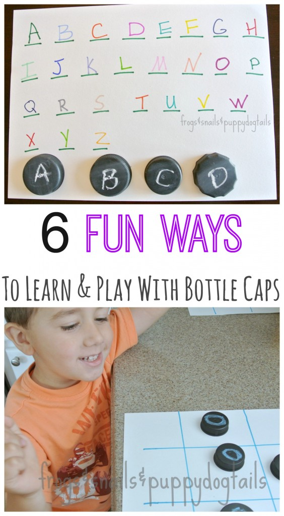 6 fun ways to play and learn with bottle caps