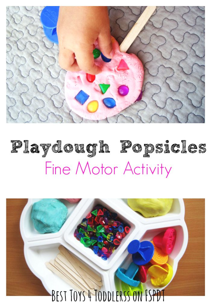 Playdough Popsicles Fine Motor Activity