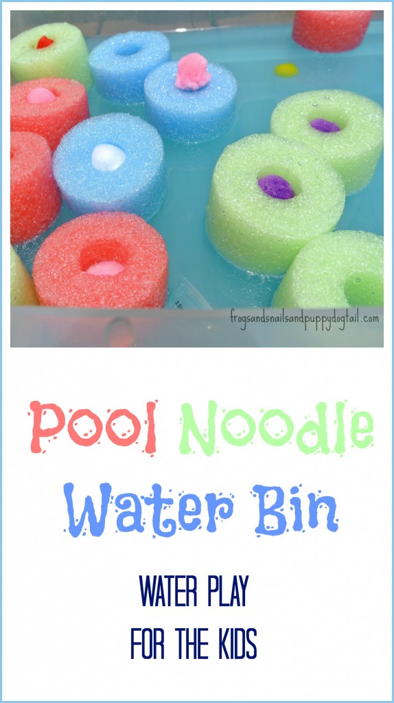 pool noodle water bin for kids