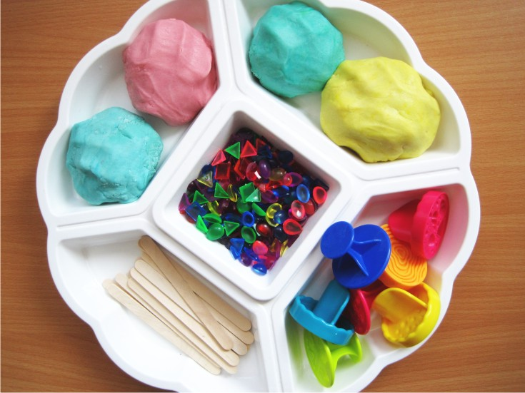 fine motor playdough play