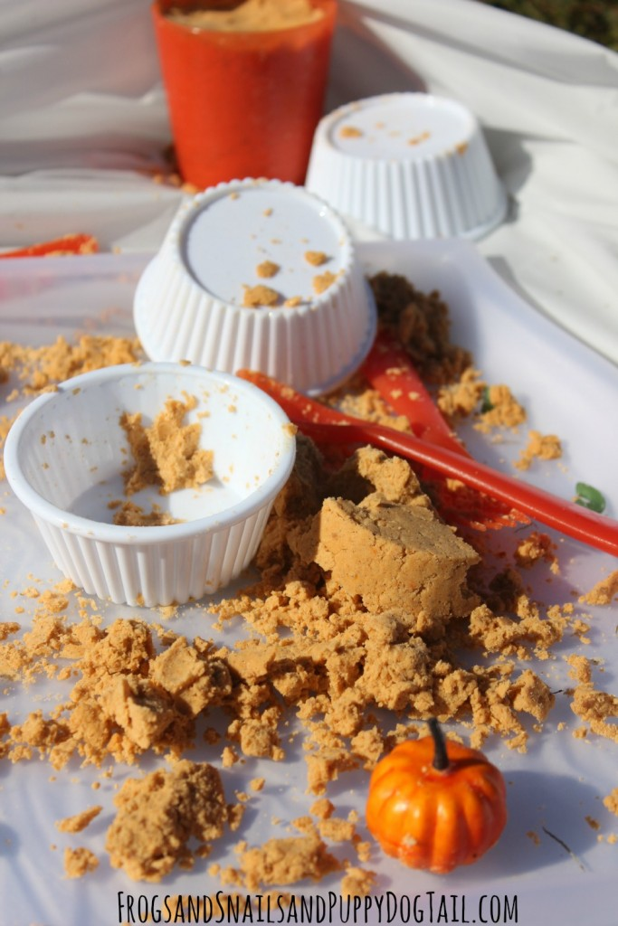 pumpkin spice soda dough for sensory play