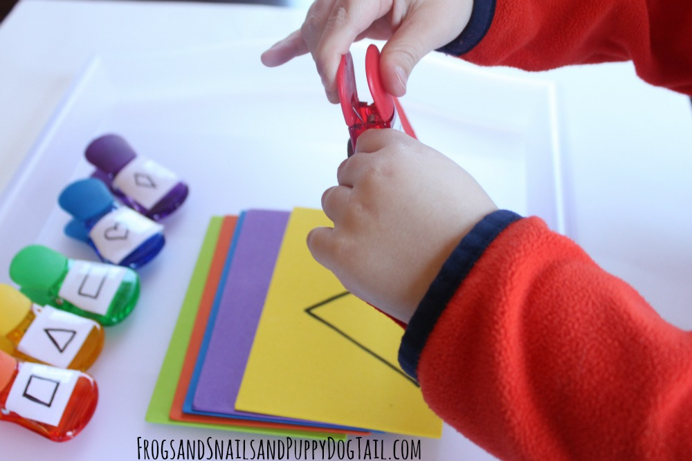rainbow color and shape match up activity for kids