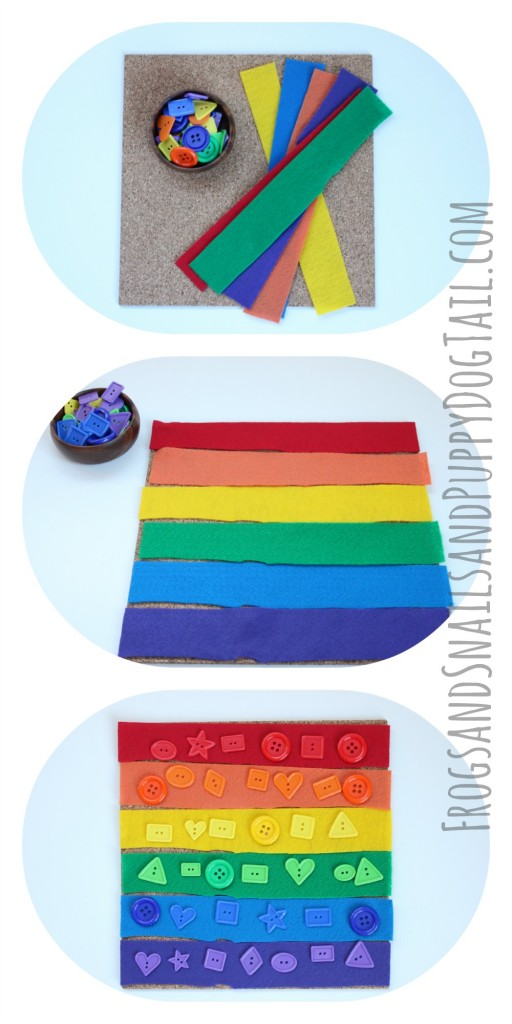 Rainbow busy bag for kids