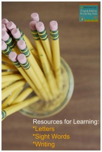 Resources for Learning: letters, sight words, and writing {Moms Library 9-24} by FSPDT