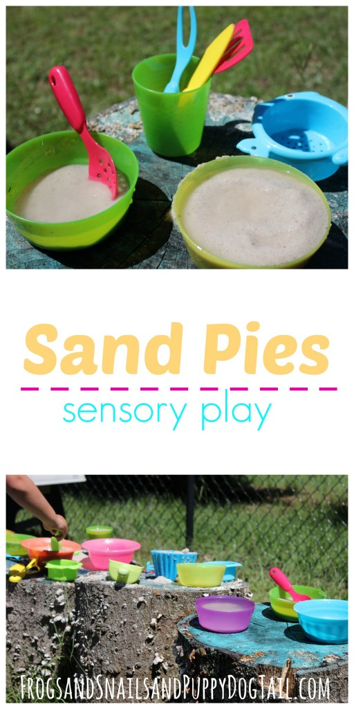 sand pies sensory play activity idea for kids