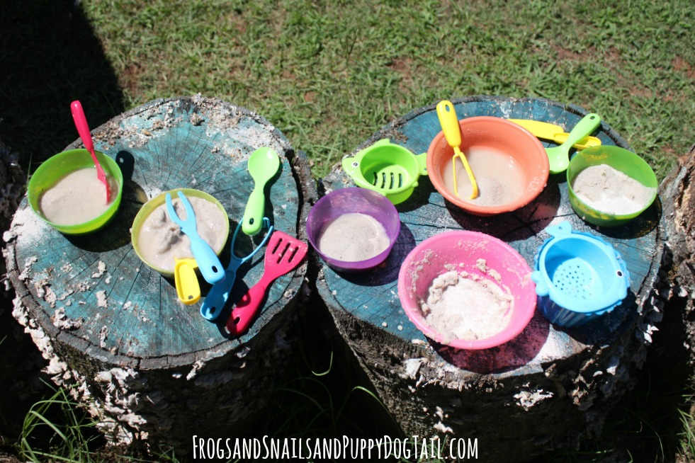 sand pies sensory play idea