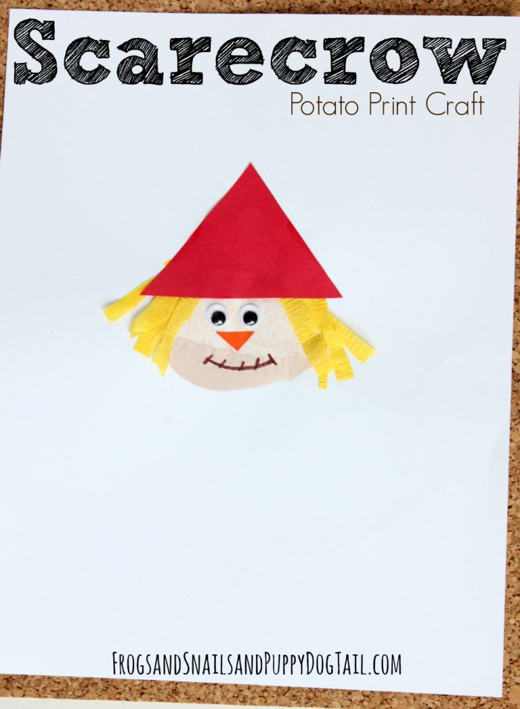 Scarecrow Potato Print Craft