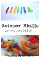 scissor skills activity idea for kids