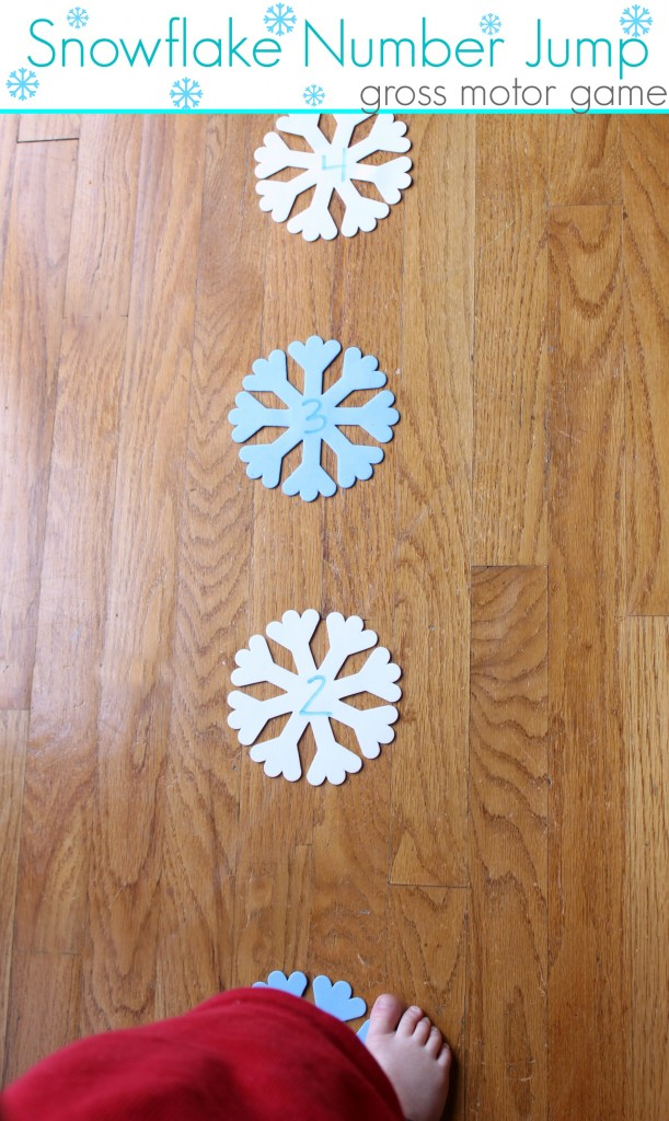 snowflake number jump gross motor game