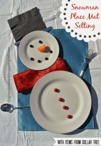 Snowman Place Mat Setting {With Items From Dollar Tree}