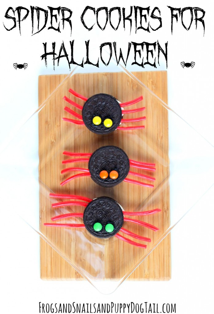 spider cookies for Halloween