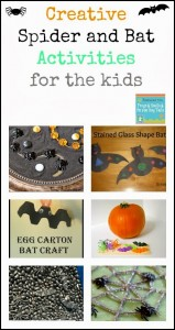 Creative Spider and Bat Activities for the kids {Mom's Library 10-15}
