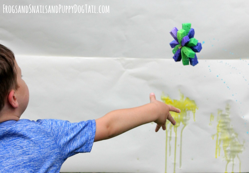 sponge painting for kids