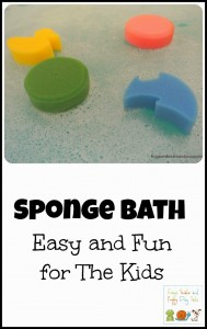 Sponge Bath Activity- easy and fun by FSPDT