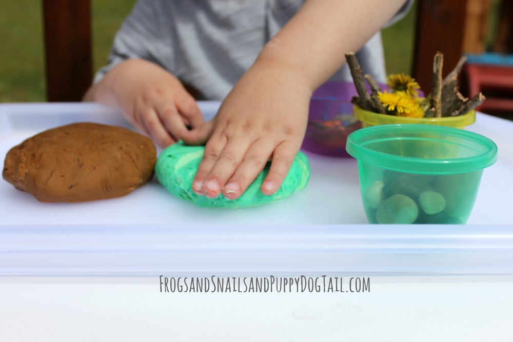 spring sensory play for kids
