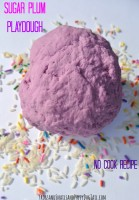 Sugar Plum Playdough no cook recipe