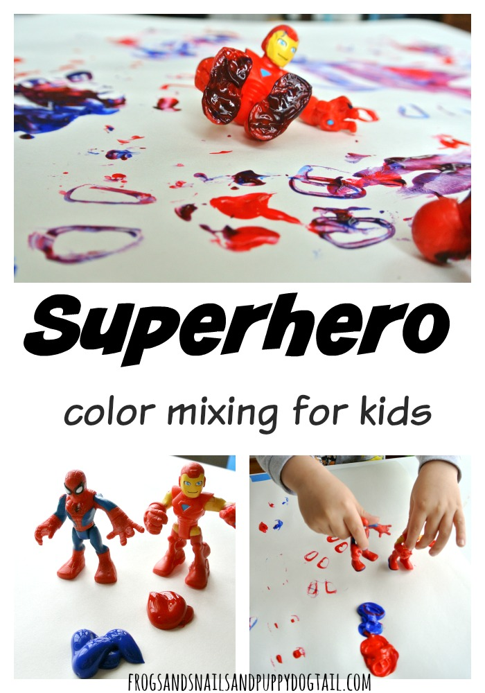 Superhero color mixing for kids