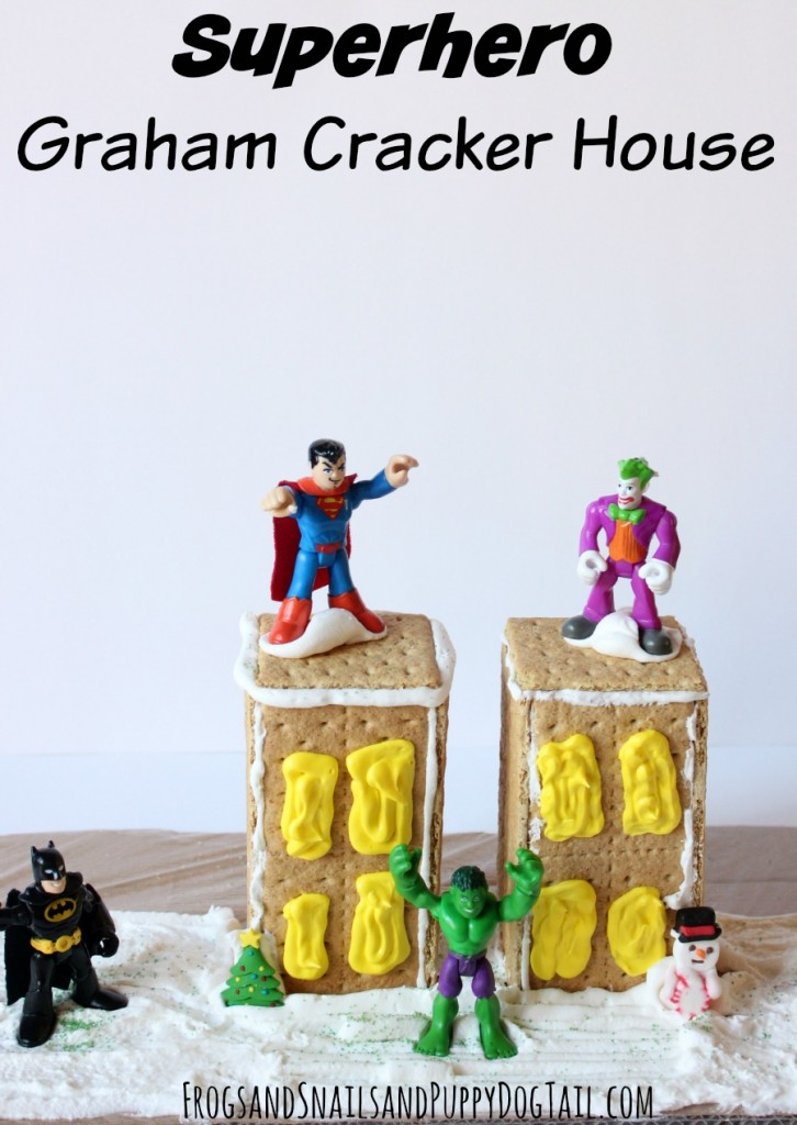 superhero graham cracker house