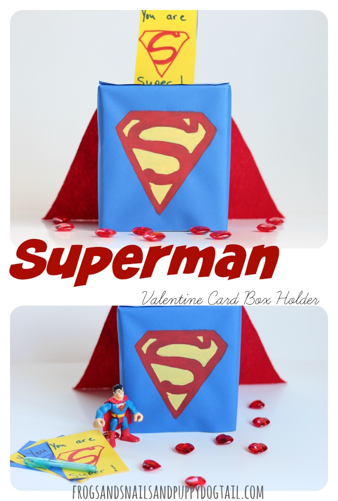 Superman Valentine Card Box Holder FSPDT – Cereal Box Valentine Card Holder