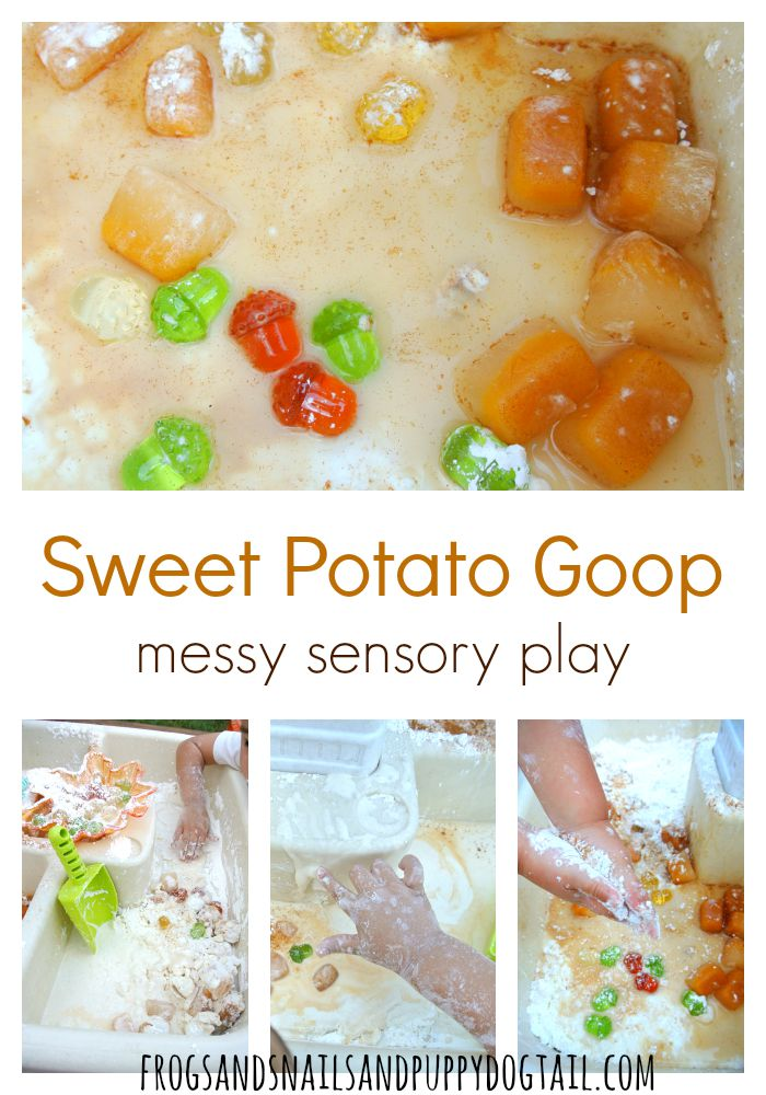 sweet potato goop recipe for messy sensory play