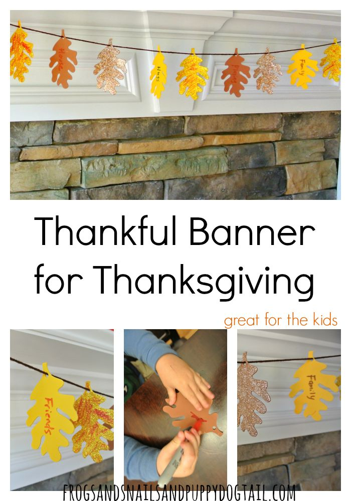 Thankful Banner for Thanksgiving