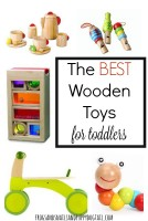 the best wooden toys for toddlers. gift guide for kids.