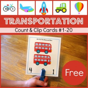 transportation count and clip cards the measured mom 1024x1024 Free Transportation Printable: Transportation Count & Clip Cards #1 20