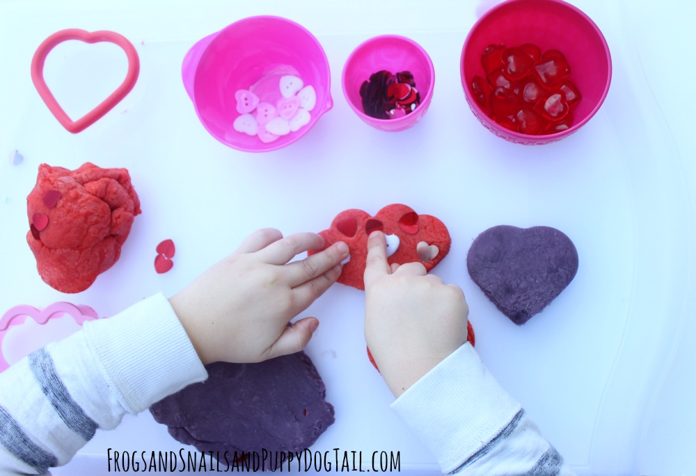 valentine's day playdough