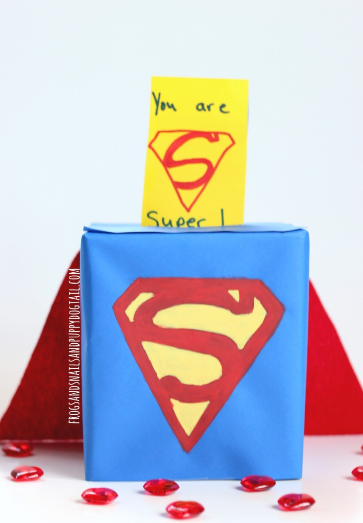 Superman Valentine Card Box Holder Fspdt