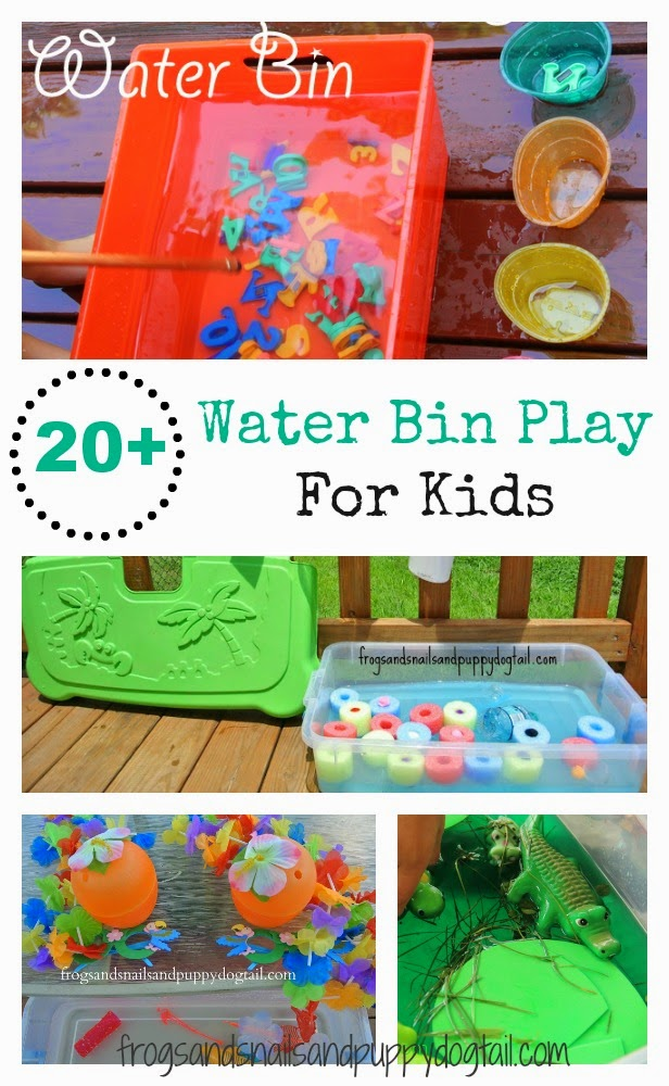 20+ Water Bin Play Activities For Kids