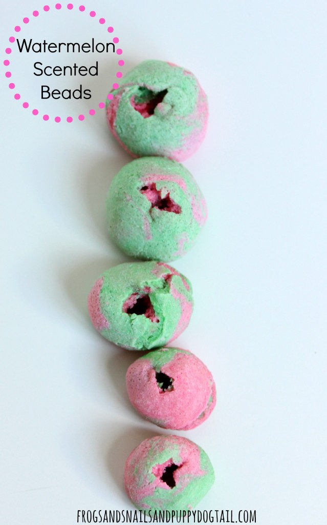 watermelon salt dough beads