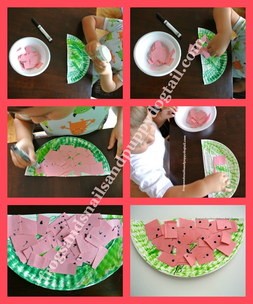 PAPER PLATE WATERMELON SUNCATCHERS