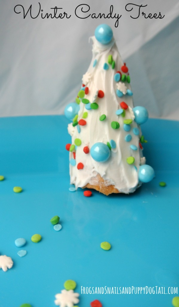 winter candy trees to make with the kids