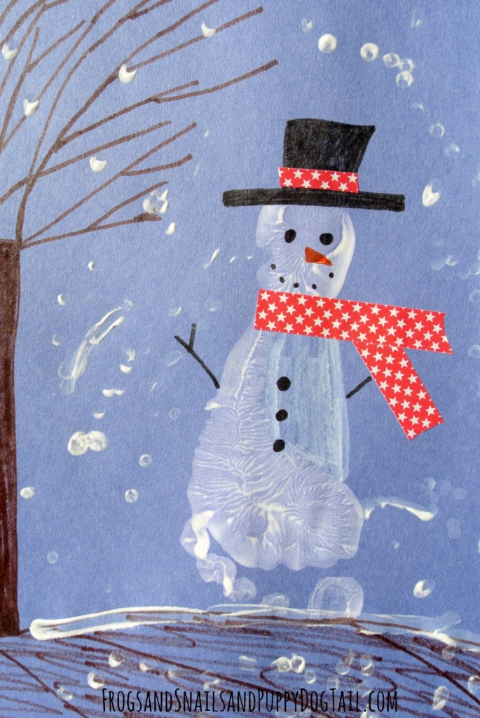 winter print craft for kids