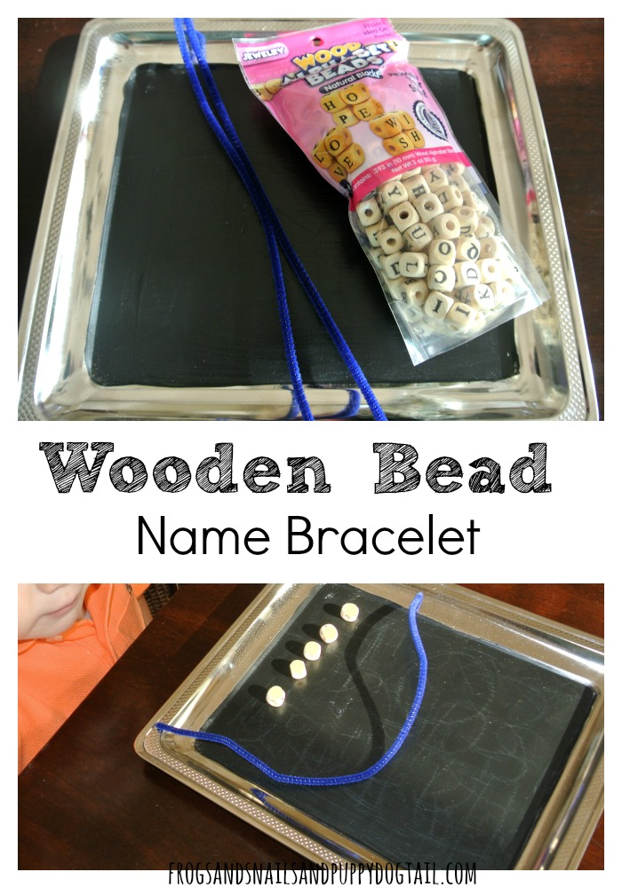 Wooden Bead Name Bracelet