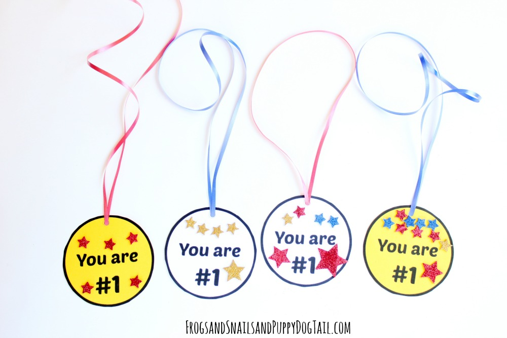 you are #1 medal craft for kids